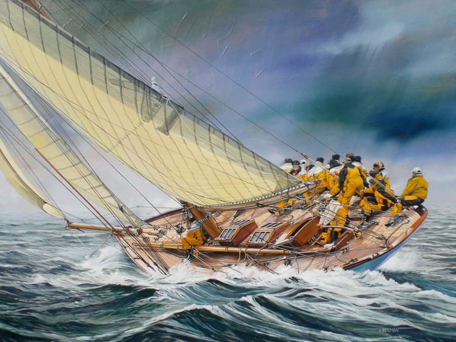 Marine Art 187 Spike Wademan Aviation And Maritime Artist